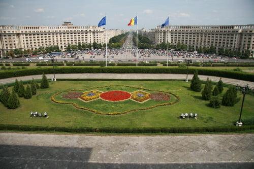 Casa Poporului Palatul Parlamentului - vedere de la balcon
