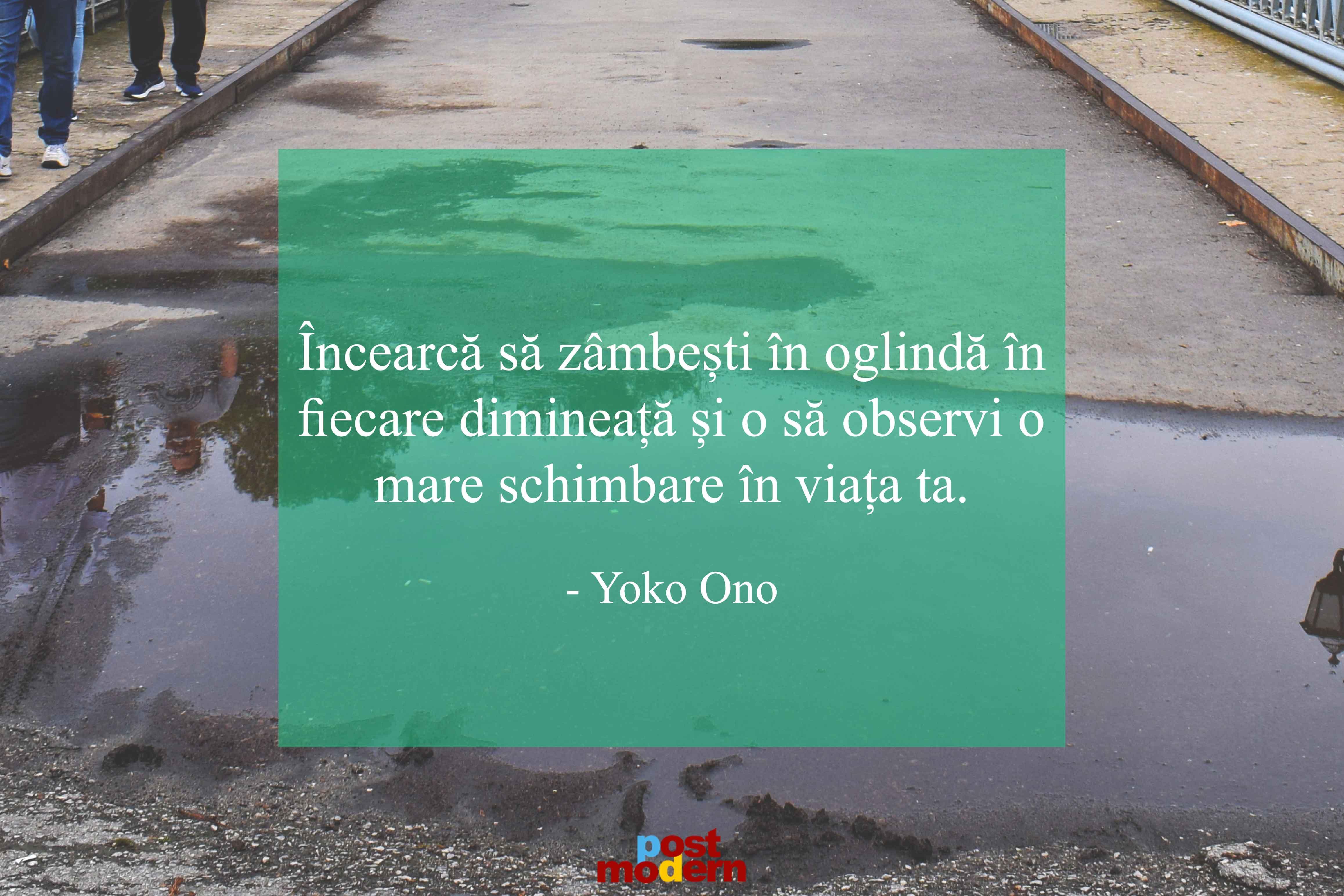 Yoko Ono citate zambete