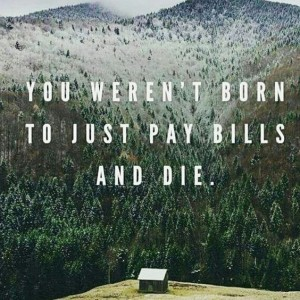 pay bills and die
