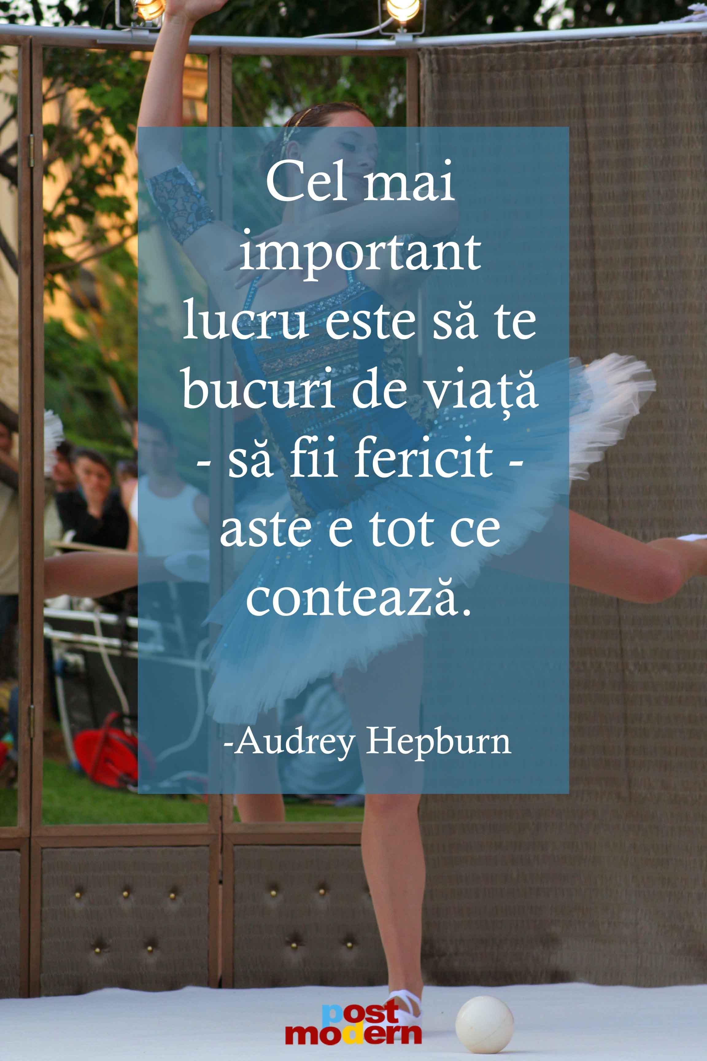 citate despre fericire audrey hepburn