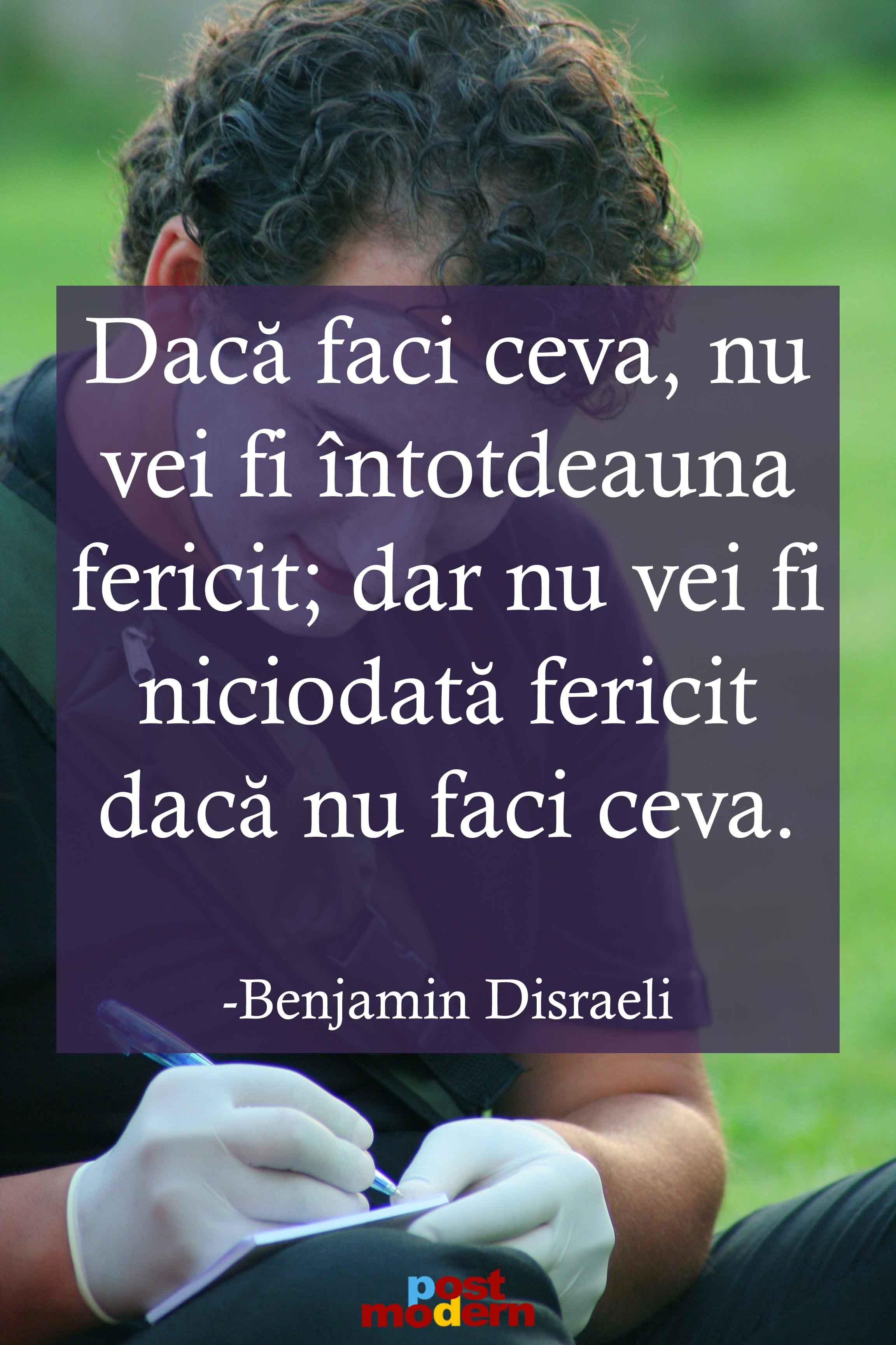 citate despre fericire Benjamin Disraeli