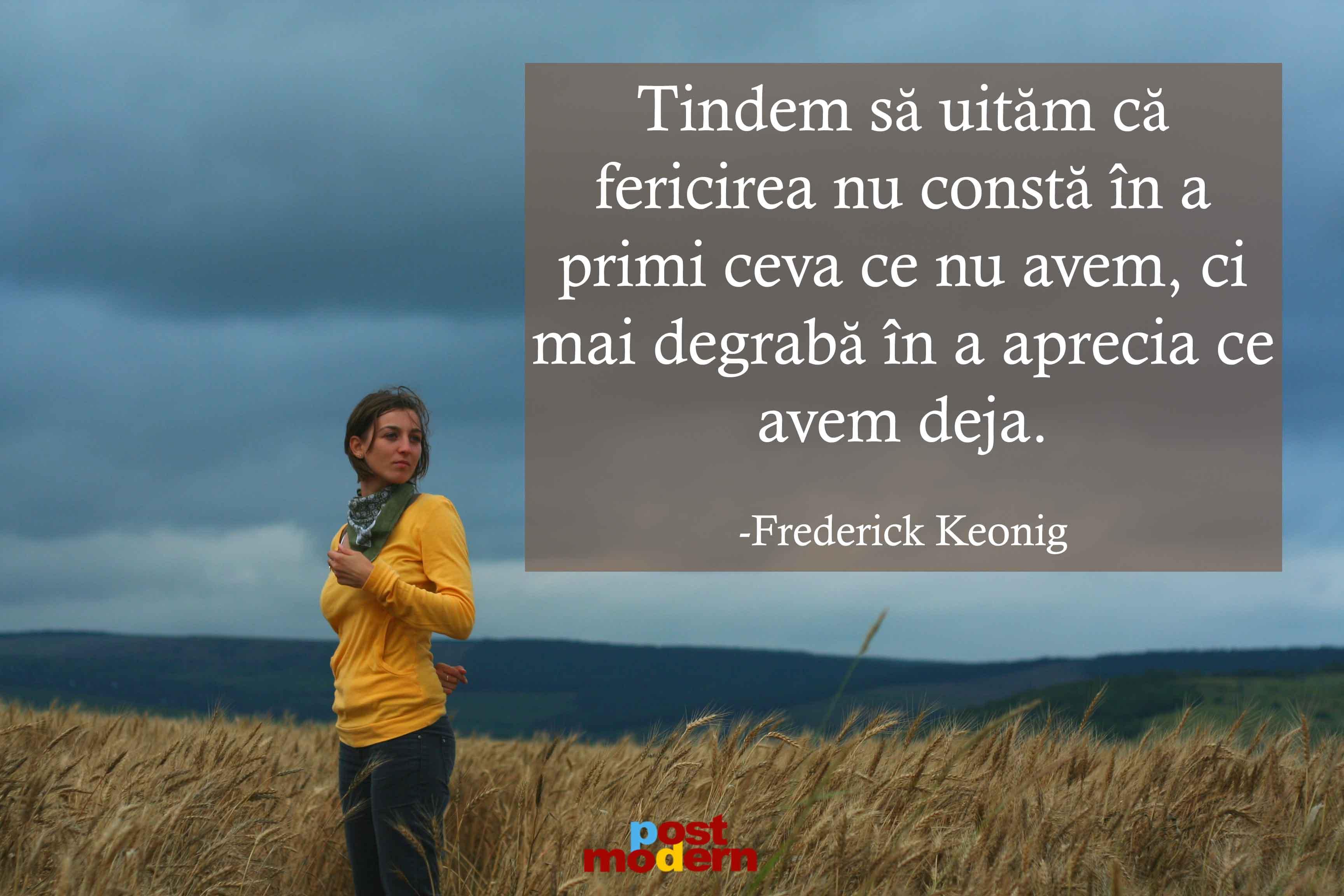 citate frederick keonig despre fericire