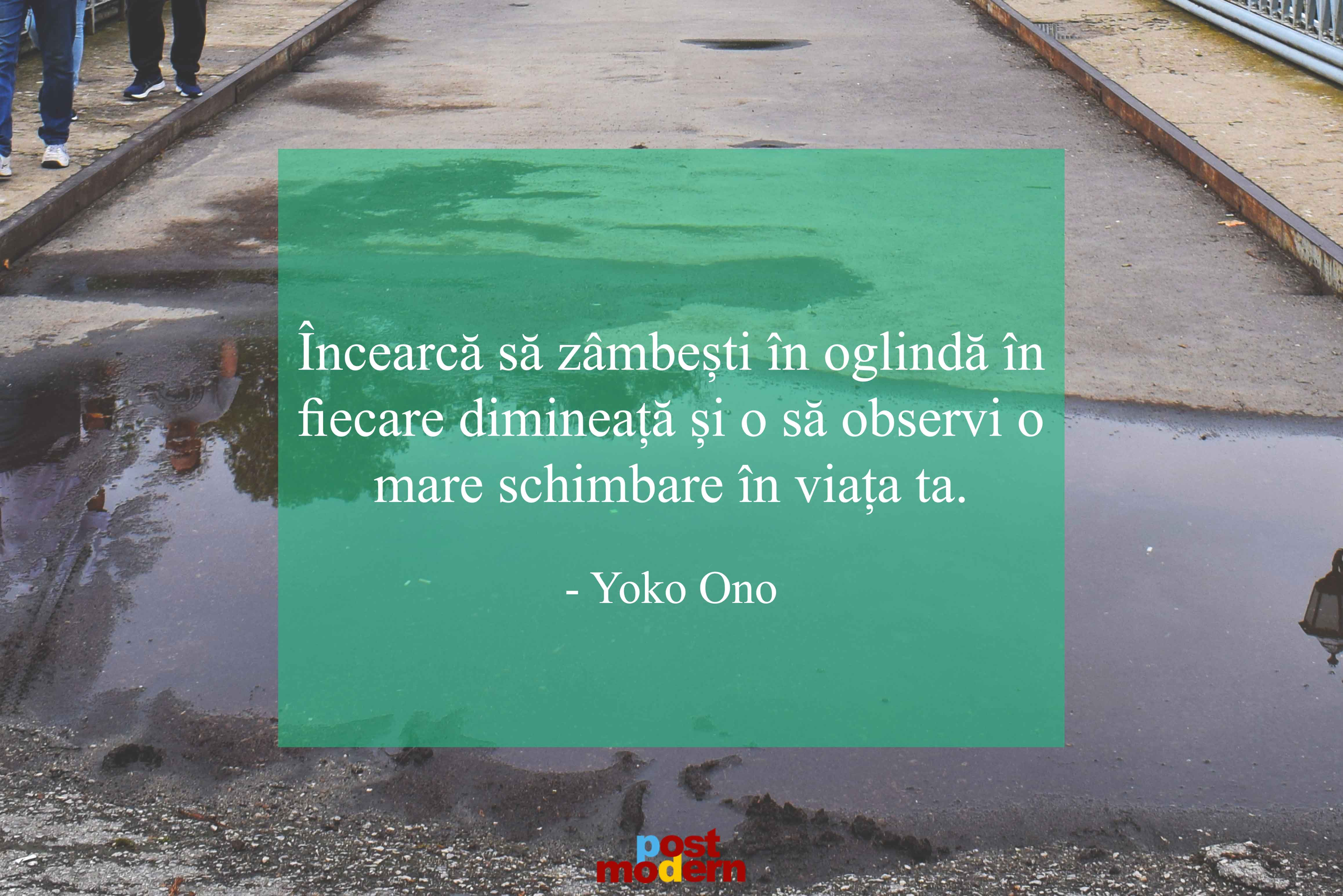Yoko Ono - citat despre zambire