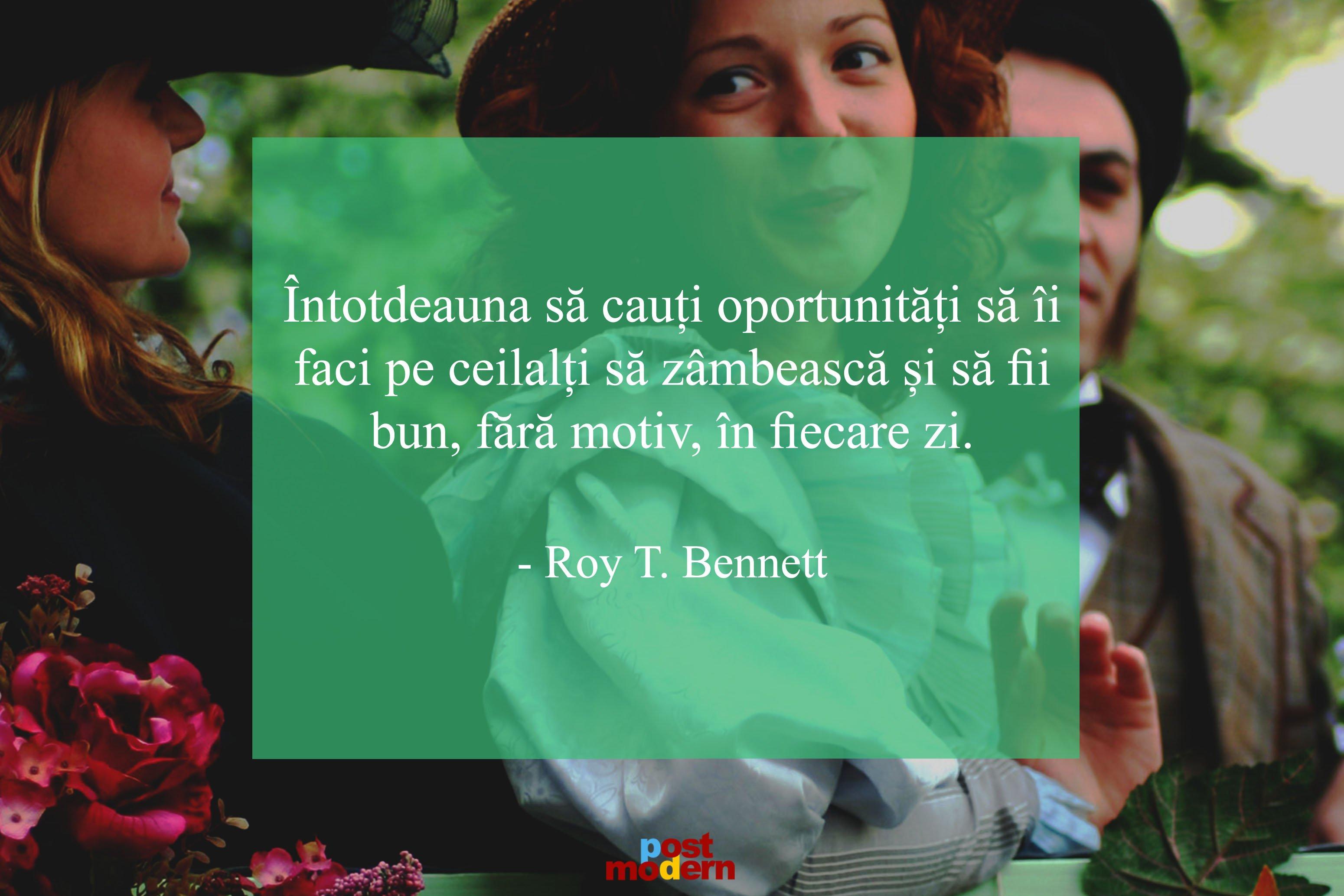 Roy Bennett citate zambete